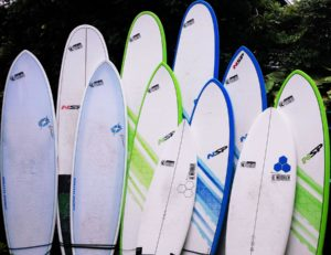 Surfboards for rent in Kona, Hawaii
